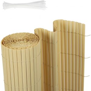 Sichtschutzzaun, bambus