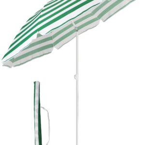 sonnenschirm grün weiß gestreift